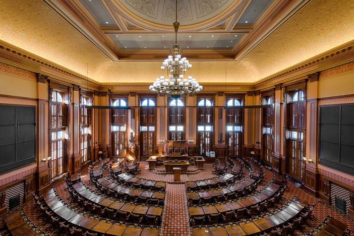 House of Representatives chamber in the Georgia state capitol building
